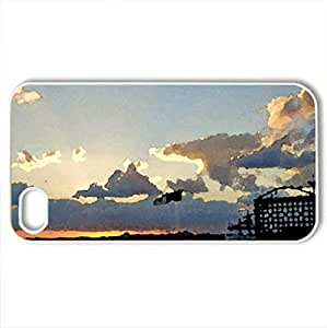agust eyes - Case Cover for iPhone 4 and 4s (Beaches Series, Watercolor style, White)