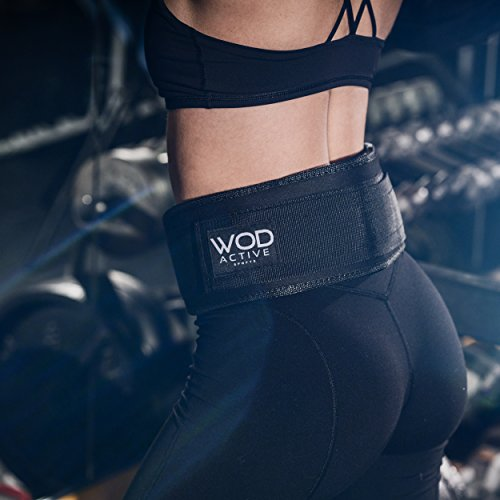 Wodactive Weightlifting Belt for WODs/Olympic Lifts - Lifting Belt w/4 inch Back Support