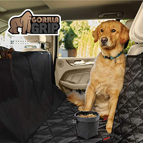 - Gorilla Grip Original Slip-Resistant Durable Premium Pet Car Seat Protector Pets, Waterproof, Underside Grip (Black) (Hammock (Quilted))