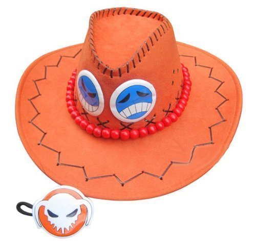 FashionM Mxnpolar One Piece Cosplay Accessory Portgas D. Ace Hat Orange Cap