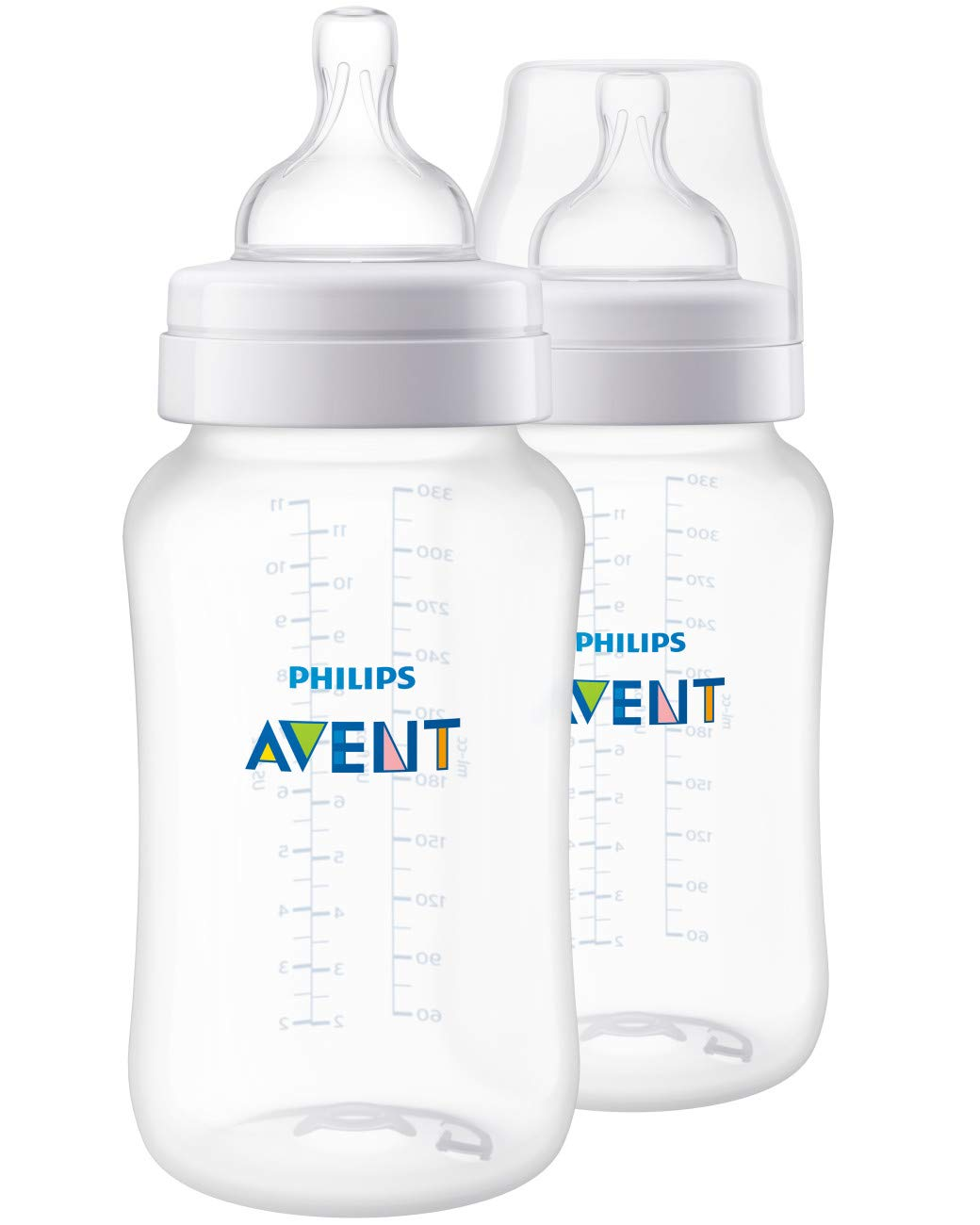 Philips Avent Anti-Colic Baby Bottle 11oz, 2pk, SCF406/24 by Philips AVENT