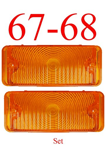 67-68 Chevy 4Pc Amber Parking Light Set W/Gaskets