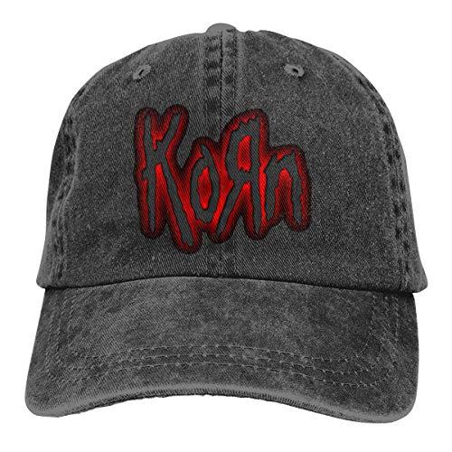 Rose Marlowe Hip Hop Korn Denim Hat Unisex Retro Adjustable Washed Baseball Cap ()