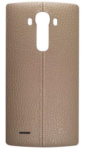 LG CPR-110 - Funda de cuero genuino para teléfono con tapa trasera para LG G4, color Beige