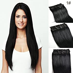 14 inch 1b off black full head clip in human hair extensions 14 inch 1b off black full head clip in human hair extensions high quality remy hair 70grams weight 8pcsset silky straight clip hair brazilian virgin pmusecretfo Gallery