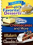 3 Books in 1 Jell-O & CoolWhip Favorite Desserts/Philadelphia Cheesecakes and More/Baker's Desserts for Chocolate Lovers