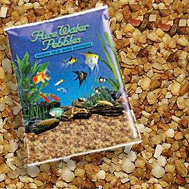 Pure Water Pebbles Nature's Ocean Aquarium Gravel Nutty Pebbles Gravel 5lb Bag ()