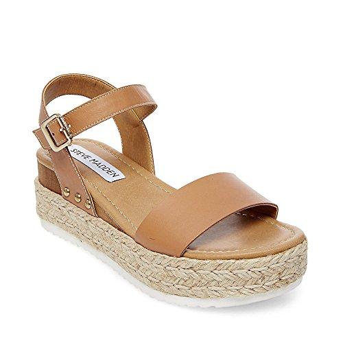 Steve Madden Women's Chiara Nude Leather Sandal 6.0 US