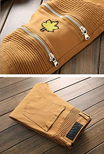 Skinny Slim Stretch Cinturino 33 color Midi 10 Size Dritti Giovane Di Jeans Fit Da Pantaloni Uomo Regular Senza vzwdHO