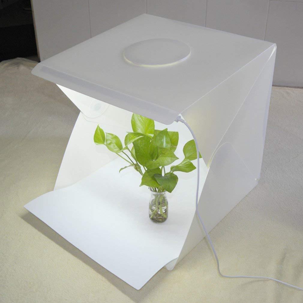 Mini boîte à lumière Pliante Portable Lightbox Light Studio Lightbox Light Kit (Couleur: Blanc) (Szie: 240 * 220 * 240mm) FairytaleMM 1