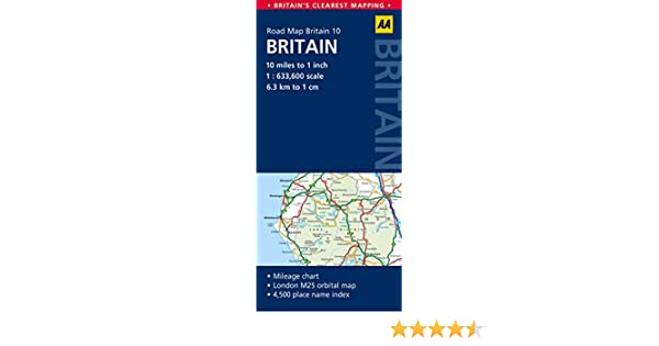 Britain Road Map (Aa Road Map Britain): AA Publishing ... on