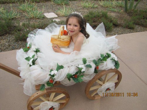 Large Flower Girl Pumpkin Wagon - Unfinished - Buy Online in Oman ...