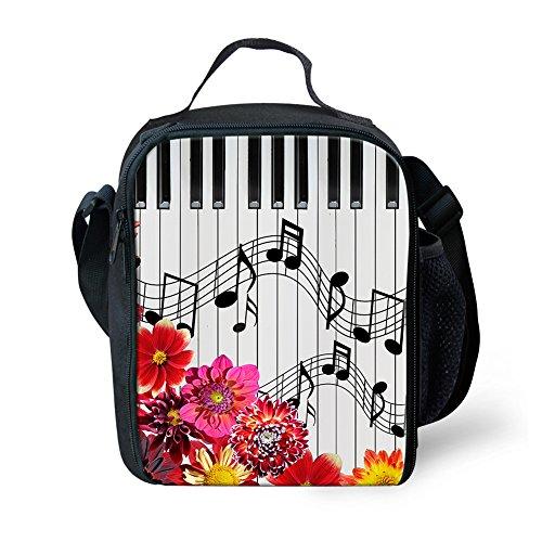 Nopersonality Notes de musique Petit sac à déjeuner isotherme Boîte à lunch pour enfants adolescents S Music Notes7 Music Notes7