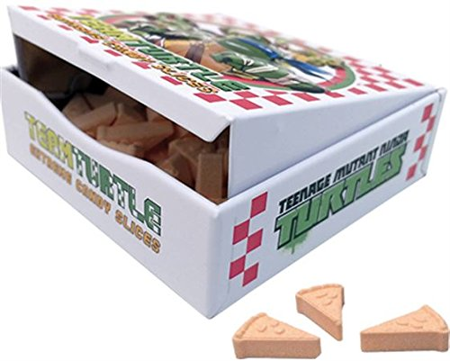 Team Turtle Extreme Pizza Slices Shape Candy -Sour Orange flavored candy pizza slices (18 pc) by Teenage Mutant Ninja Turtles