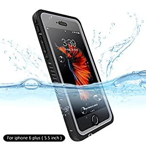 Waterproof case for iphone 6 plus/6s plus,Six-qu Underwater Cover Full Body Protective Dirtproof Shockproof Waterproof Case for iPhone 6 plus/6s plus (5.5inch)
