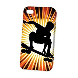 TYH - Case Fun Apple iPhone 6 4.7 Case - Vogue Version - D Full Wrap - Skateboarder ending phone case