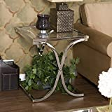 Southern Enterprises Vogue End Table, Chrome Finish