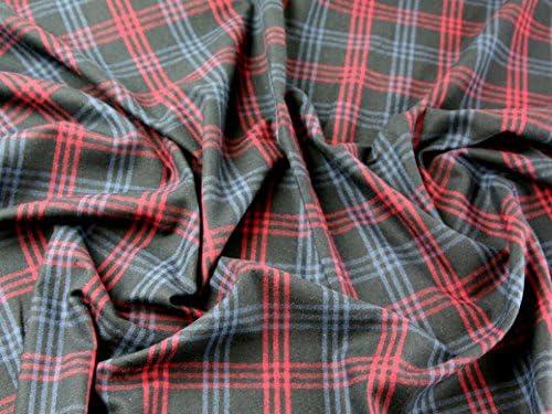 Cuadros Escoceses Vestido de franela de algodón cepillado tela ...