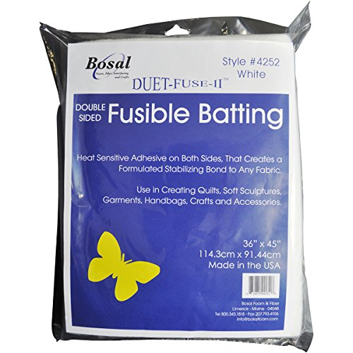 Bosal Duet-Fuse-II Double-Sided Fusible Batting-36 X45