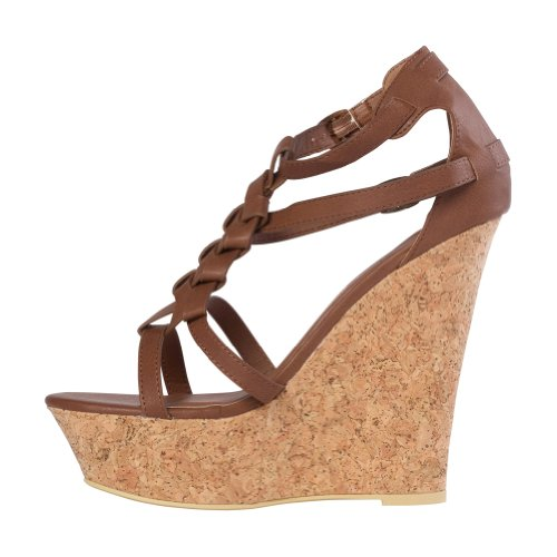 PU Brown Fab Women's Calistoga Just Wedge qwY4tx