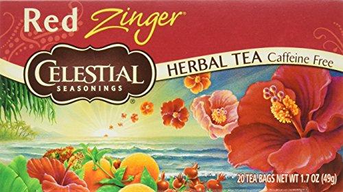 Celestial Seasonings Herbal Tea, Red Zinger, 20 Count (Pack of 6)