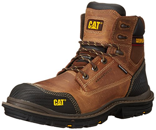 Caterpillar Men's Fabricate 6 inch Tough Waterproof Comp Toe Work Boot, Brown, 10 M - Caterpillar Brown