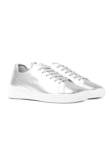 Lacoste Womens Silver Eyyla 317 1 Sneakers-UK 8
