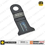 Versa Tool SB50C 45mm Japan Cut Tooth HCS Multi-Tool Saw Blades 50/Pack Fits Fein Multimaster, Rockwell, Sonicrafter, Makita Oscillating Tools