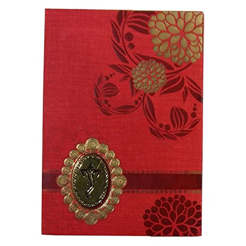 Nsc Floral Design Wedding Invitation Card For Hindu Marriage Rituals In Red Color Amazon In Toys Games