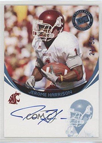 Jerome Harrison #/50 (Football Card) 2006 Press Pass - Autographs - Platinum #JEHA