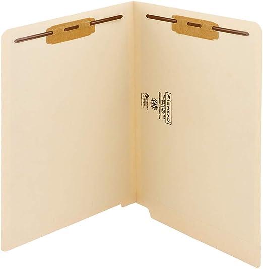 50 Pieces Smead SMD24275 Manila 24275 Manila End Tab File Folders with Reinforced Tab