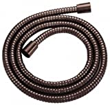 Danze D469020RB Metal Interlock Shower Hose with Brass Conical Nuts, 72-Inch, Oil Rubbed Bronze