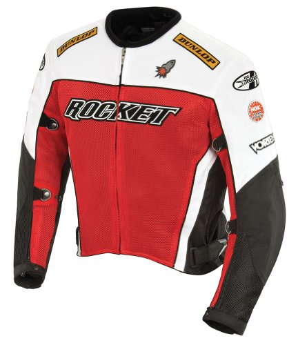 - Joe Rocket UFO 2.0 Textile Mesh Motorcycle Jacket X-Large (Size 44) Red
