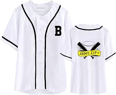 Xsayjia BTS Wings Album Mismo Párrafo Camiseta Manga Corta Cardigan De Beisbol Concierto Deberia Ayudar A La Ropa Mujer Camiseta Verano Blusa Sport Tops La Camisa: Amazon.es: Ropa y accesorios