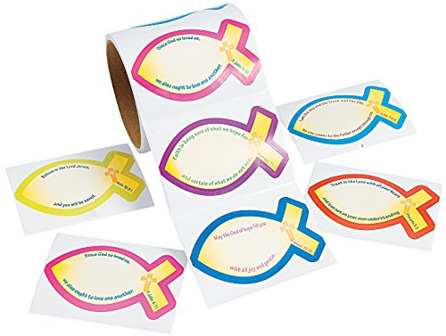 Sunday School Name labels Paper