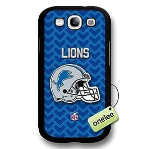 NFL Detroit Lions Team Logo For Case Iphone 4/4S Cover Black Hard Plastic - Black