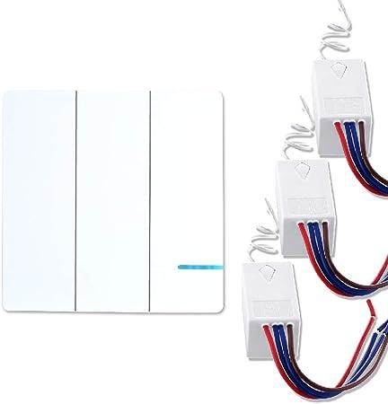Aisence - Kit de conmutador de iluminación inalámbrico, sin cables ...