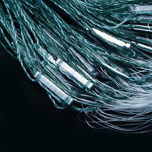 MXCELL Bait Cast Net Outdoor Nylon Fishing Cast Mesh 5ft Radius Saltwater Monofilament Fishing Net 6x6cm Mesh Size Braided Hand line