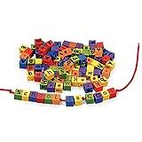 Wonderful Wood Alphabet Lacing Beads Set - Arts & Craft Supplies - From Fun365
