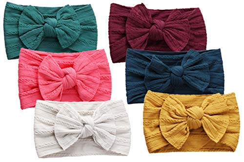Baby Headbands Soft Nylon Bow Turban Knotted, Girl's Hairbands for Newborn,Toddler and Childrens