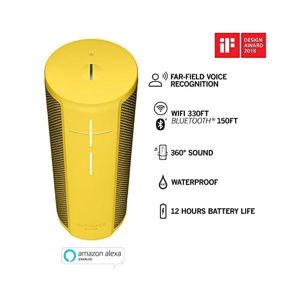Ultimate Ears BLAST Enceinte portable Wi-Fi / Bluetooth avec système de commande vocale en mode mains-libres Amazon Alexa (étanche) - Jaune 2