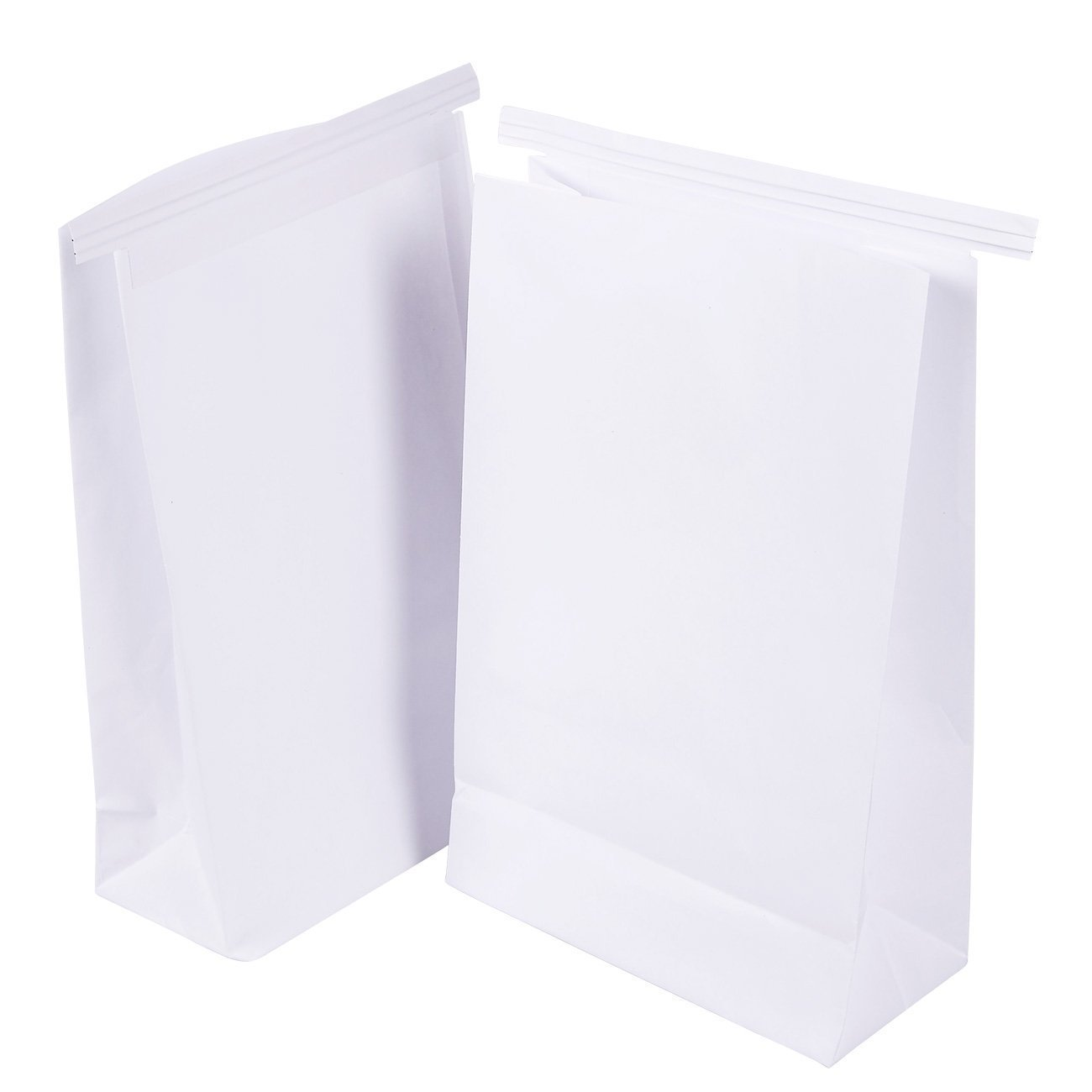 50-Pack Vomit Bags - No Print Plain White Emesis Barf Bags for Motion Sickness and Morning Sickness, Paper Puke Bag, 6 x 2.6 x 9.7 inches by Juvale (Image #8)