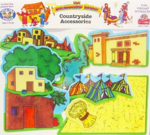 (Little Folk Visuals Beginners Bible: Countryside Precut Flannel/Felt Board Accessories/Overlay , 9 Pieces Set)