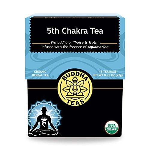 Organic 5th Chakra Tea - Kosher, Caffeine-Free, GMO-Free - 18 Bleach-Free Tea Bags