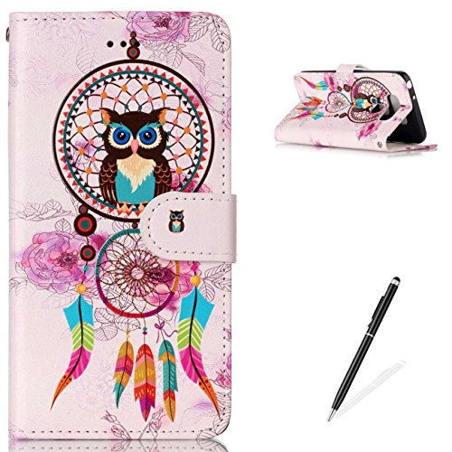 MAGQI LG G6 Premium PU Leather Stand Wallet Case, Flip Book Style Shell Cute Animal Cartoon Painting with [Free 2 in 1 Stylus] Full Body Protective Cover - Wind Chimes