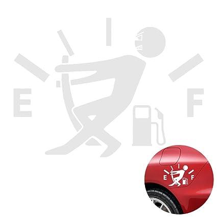 b135ff84 Amazon.com: WINOMO Funny Car Stickers 5x3.6 inch High Gas Consumption Decal Fuel  Gage Empty Stickers (White): Automotive
