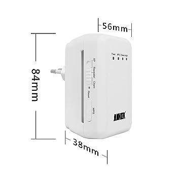Anker® Wireless-N Repetidor Compacto, WiFi Punto de Acceso & Amplificador & Extensor de Alcance 300Mbps (También Funciona como un Enrutador o Encaminador, ...