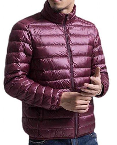 Cappotto Vino Mens L Rosso Leggero Eku Di Piumini Caldo Inverno Solido YzYwdF