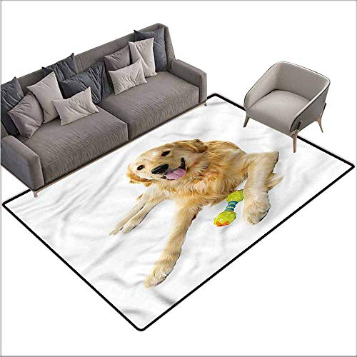 Indoor/Outdoor Rubber Mat Golden Retriever,Pet Dog Toy 80