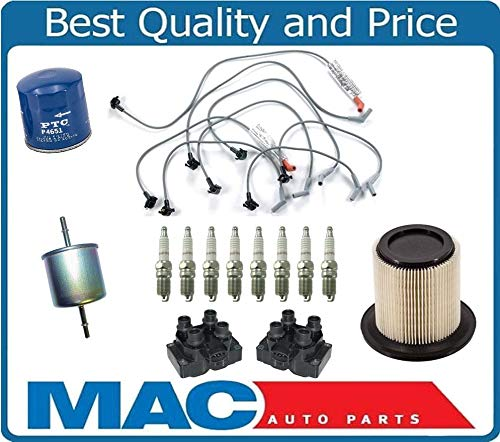 for 96-97 Explorer 5.0L Ignition Spark Plug Wire Coils Plugs Air Gas Air Filter